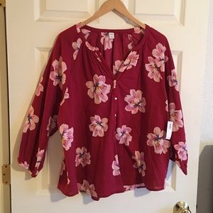 Old Navy Women's Floral Shirt. Sz XL. NWT.
